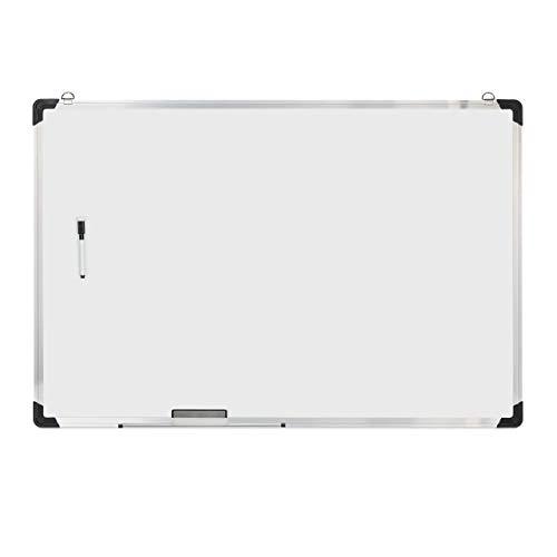 Relaxdays Whiteboard, met spons en marker, magnetisch, met aluminium frame, voor vergaderingen, workshops, kantoor, 60 x 90 cm, wit