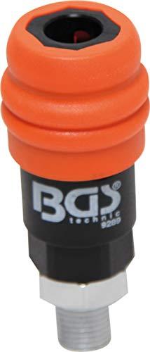 """Preisvergleich Produktbild BGS 9289 / Druckluft-Sicherheits-Schnellkupplung / 2-Stufen-Löser / Außengewinde 6, 3 mm (1 / 4"""")"""