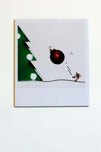 Cooler Magnet für Kühlschrank Magnettafel Halter für Notiz zum Verschenken | Weihnachtsschmuck an den Weihnachtsbaum | Fußballer schmückt Baum