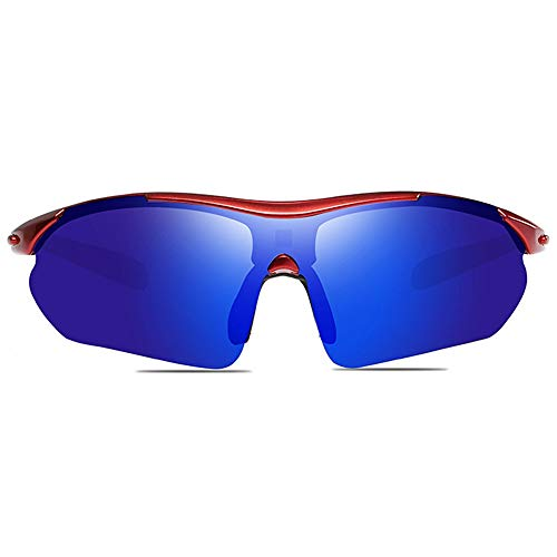 TYXL Sunglasses Ciclismo Al Aire Libre, Material De PC, UV400, Gafas De Sol De Colores, Azul Marino/Verde Amarillo, Hombres Y Mujeres con La Misma Media Gafas De Sol. (Color : Azul Oscuro)