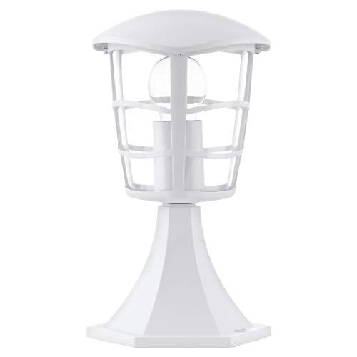 EGLO Lámpara Sobremuro Aloria E27, 60 W, Blanco, 17 x 17 x 27 cm