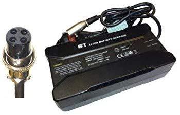 Powatechnic Cargador de batería de Litio 48V-54.6V 5A para Bicicletas eléctricas, Scooters, sillas de Ruedas y más! (PAJ 4 Pin)