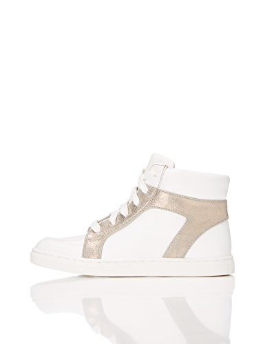 RED WAGON Mädchen Sneaker mit Metallic-Look, Weiß (White), 30.5 EU