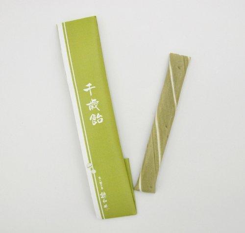 千歳飴 (千歳あめ)1本 緑色 宇治抹茶 七五三 のし袋付