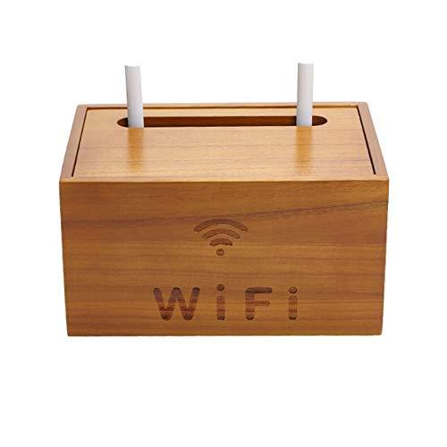 JCNFA-BOEKENPLANK Wifi Draadloze Router Opbergdoos, Massief Houten Netsnoer Insteekbord, Stopcontact, Enkele Laag/Dubbele Laag (Color : Cherry, Size : 10.62 * 6.96 * 5.70in)