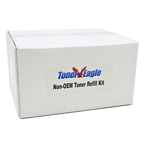 Toner Eagle Toner Refill Kit with Chip. 9K Pages [Black, 1-Pack], Compatible with Lexmark X264 X363 X364 X264H11G