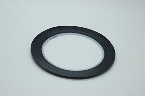 3M 471 Vinyl Klebeband, Abdeckband, Dekorationstreifen, Schwarz, Grün, 2-10mm x 33 Meter Variationen (Schwarz, 3mm)