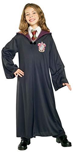 Enfants Garçon Filles DE Harry Potter Hermione Grainger Griffindor Gryffondor Robe Magicien Livre Jour Halloween déguisement Costume Tenue - Noir, 5-7 Years