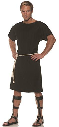UNDERWRAPS Men's Classic Greek Toga Costume-Black, Double X-Large