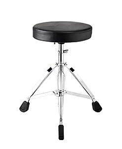 G Ganen Thick Padded Foldable Drum Throne Saddle Stool Adjustable Height No-slip Black