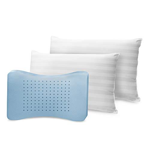 SensorPEDIC MemoryLOFT Pillow, Queen, White 2 Count