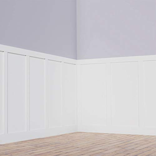 Ekena Millwork WPKP56X03CS Classic Shaker 8' Length PVC Wainscoting Kit, Heights up to 56