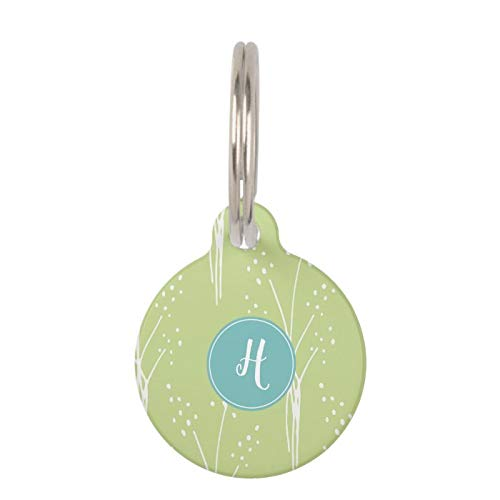 Stainless Steel Pet ID Tags, Dog Tags, Cat Tags, Beautiful White Floral Pattern Pet ID Tag for Dogs and Cats