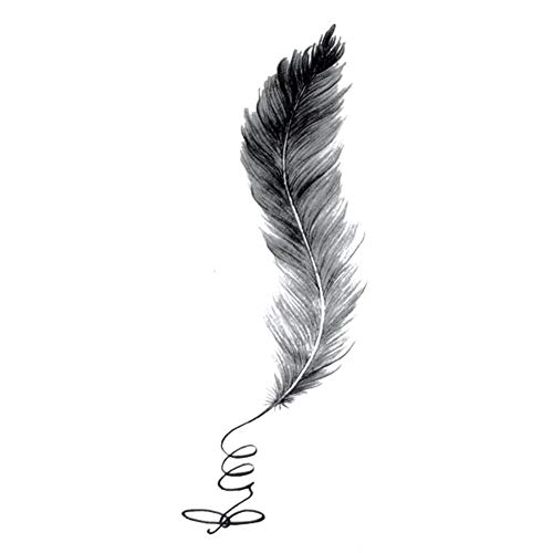 EROSPA® Tattoo-Bogen temporär/Sticker - Feder Feather - Wasserfest