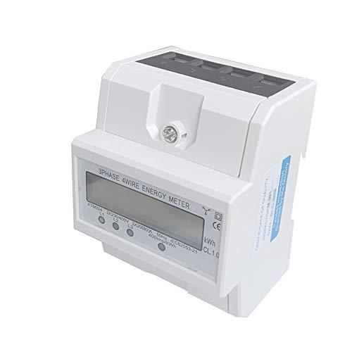 JVJ Digital LCD 3 x 20(80A) 230/400V 3 phasen 3phasig Vierdraht Stromzähler elektronisch Energiezähler