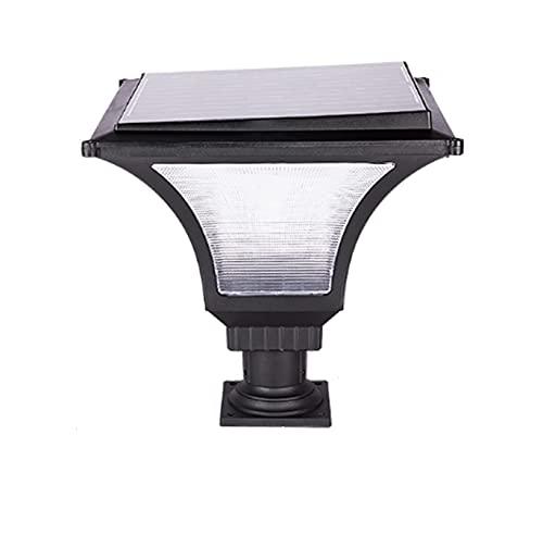 Ljuskub Solkolonnstrålkastare Antirust Vattentät IP55 Solar LED-pelarlampor PS Stigma Optisk avkänningsbelysning för utomhusgårdar Gatuljus Kolumnstrålkastare Effekt: 16-20 ?W?
