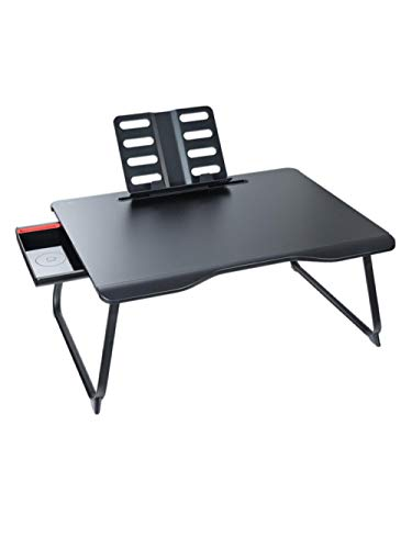 Majestic Posters Bett Klappbarer Kleiner Tisch Home Desk Fauler Nachttisch-Ultimate Black Laptop Ständer Betttisch
