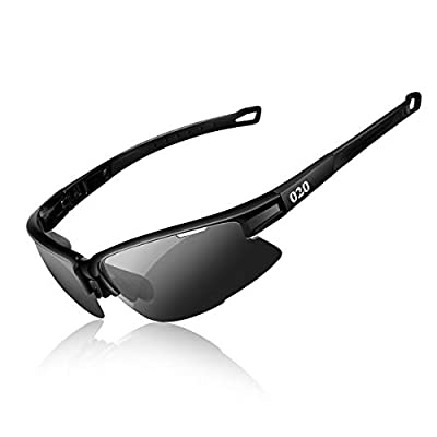 O2O [Polarized] Sports Sunglasses Tr90 Frame for Running Golf Driving Baseball Cycling Fishing Men Women