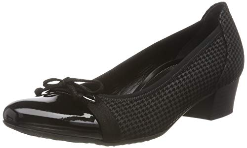 Gabor Shoes Damen Comfort Fashion Pumps, Grau (Anthrazit/Schwarz 17), 42 EU
