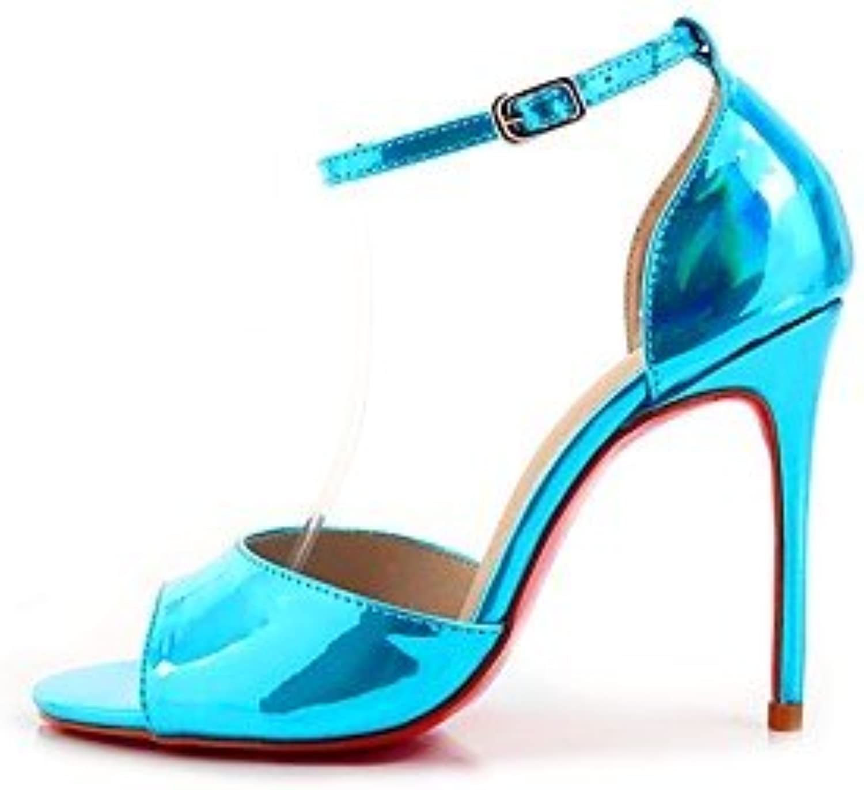 LvYuan-ggx Da donna Tac  Comoda Pelle di maiale Prima  Estate Casual A stiletto argentoo Blu 2,5-4,5 cm, argentoo, us9.5-10   eu41   uk7.5-8   cn42