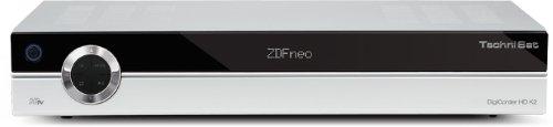 TechniSat DigiCorder HD K2 HDTV Kabel-Receiver mit 320GB Festplatte (2x CI-Schacht, HDMI, 2x SCART, Conax-Kartenleser, Twin-Tuner) silber