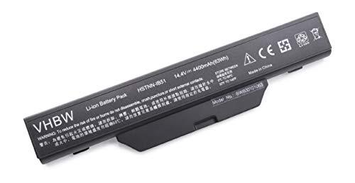 Batterie LI-ION 4400mAh 14.4V Noir Compatible pour HP Compaq Notebook remplace 451085-141, 451085-661, 451086-001, 451086-121, 451086-621