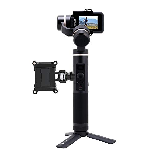 FeiyuTech Official G6 3-Axis Splashproof Handheld Gimbal for GoPro Hero 8/Hero 7/Hero 6/Hero 5/Hero 4/Hero 3/SJCAM/YI 4K Sport Action Camera with Mini Tripod and Lateral Smartphone Holder