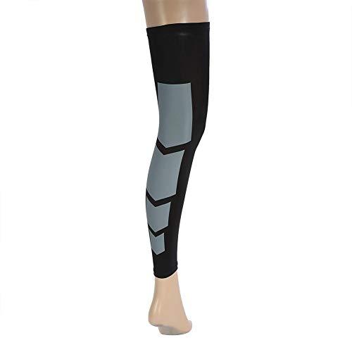 Compression Calf Sleeves, Unisex Elastico Antiscivolo Allungato Polpaccio Supporto Brace Sleeves Calze a Compressione per Gambe Shin Splint (L-Black)