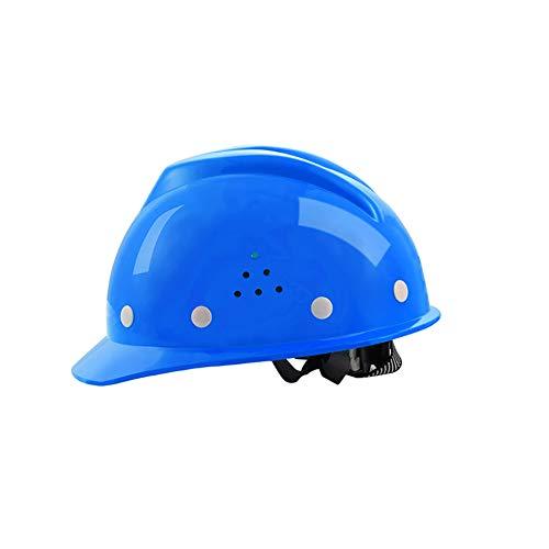 YZJJ Arbeitshelm Einstellbarer Schutzhelm - Bauhelm mit 8-Punkt Gurtband, Bauarbeiterhelm mit verstellbarem Helm, Bauhelm Hard hat