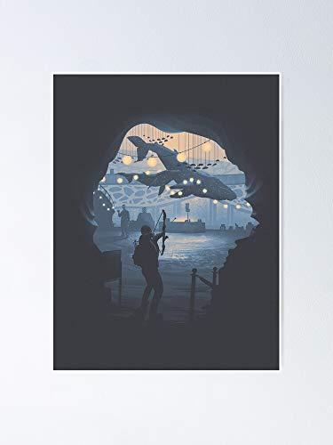 Situen Póster del acuario de O.wen con diseño de The Last Of U.s 2, ideal para decoración de pared, decoración de habitación, dormitorio para compañeros de clase, colegas y mejores.