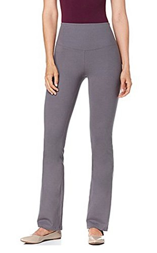 Yummie Tummie Boot-Cut Shaping Legging Yoga Pants ~Gray