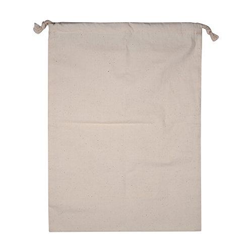 wosume Bolsas de algodón, Bolsas de Almacenamiento de algodón, Bolsa de Almacenamiento con cordón Color Natural Gran Capacidad para Acampar Uso en el hogar Viajes Uso(30 * 40cm)