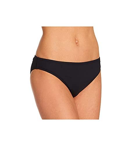 La Blanca Women's Standard Island Goddess Solid Hipster Bikini Swimsuit Bottom, Black, 10