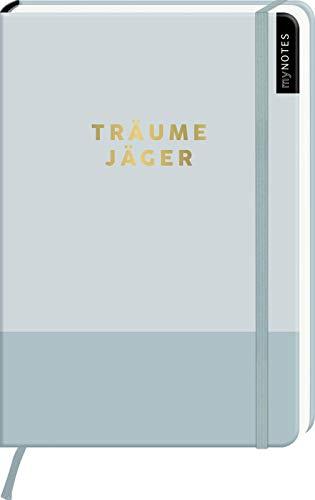 myNOTES Notizbuch A5: Träumejäger: Notebook medium, gepunktet   In minimalistischem Desgin / Pastell Blau: Ideal als Bullet Journal oder Tagebuch