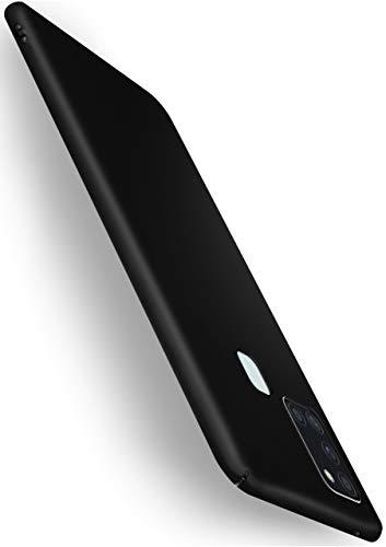 moex Alpha Case für Samsung Galaxy A21s Hülle Stoßfest und Leicht Handyhülle Extra Dünn, Super Slim Schutzhülle Ultra Air Hybrid PC Hardcase aus Kunststoff - Matt Schwarz