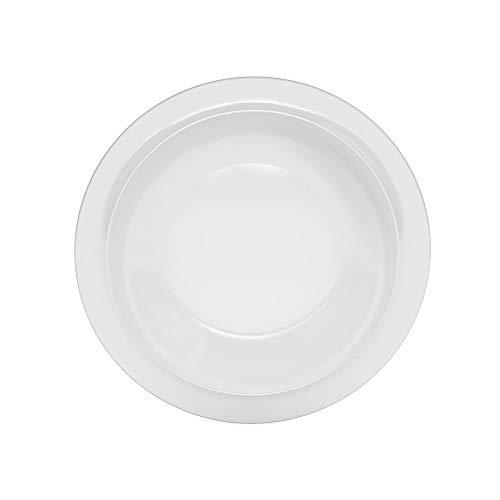 Ornamin Teller tief Ø 22 cm weiß Melamin (Modell 505) / Kunststoffteller, Speiseteller, Suppenteller