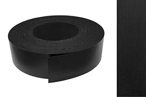 Kantenumleimer Melamin 45mm x 5m mit Schmelzkleber in Esche schwarz pore Dekor