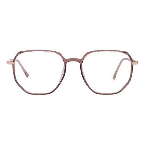 2020 VentiVenti Blue Light Blocking Glasses for Women Men Polygon Lightweight Eyeglasses Frame Anti Blue Ray Computer Game Glasses,Champagne