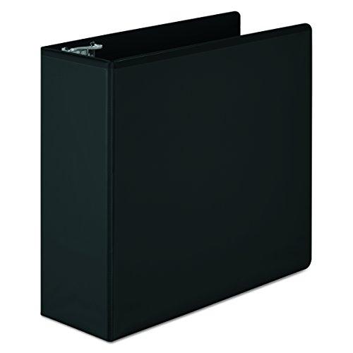 Wilson Jones 4 Inch 3 Ring Binder, Basic D-Ring View Binder, Black (W386-54BA)