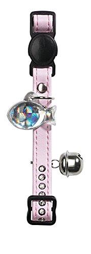 HUNTER Modern Art Luxus - Collare per Gatti, in finta pelle, Colore: Rosa/Bianco