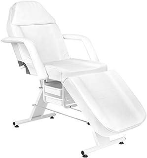 Activeshop Behandelstoel Tattoostoel Massagestoel Cosmetic Chair Basic 202 wit tot 150 kg belastbaar premium PU-leer met o...