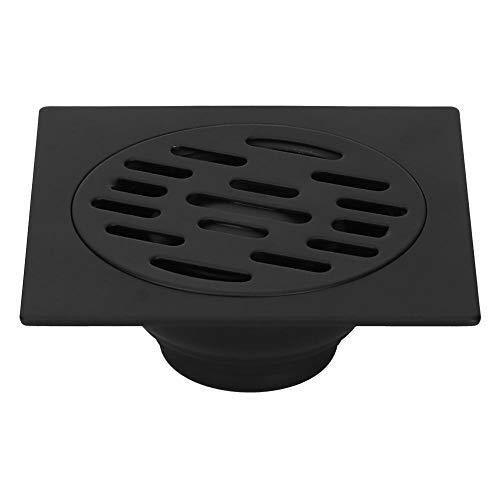Desagüe de Piso Desagüe de Acero Inoxidable Negro Ducha Desagüe de Piso Escurridor para baño Cocina(Negro)