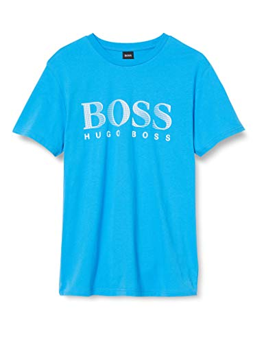 BOSS Herren Rn T-Shirt, Bright Blue437, X-Large