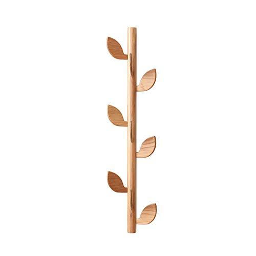 SZQ-Kapstokken Stevige Houten Kapstok, Multifunctioneel Kleding Hook Geschikt for Hotel Restaurant Creative Leaves Hal meubelen 85 * 20cm Slaapkamer kapstok (Color : A, Size : 85 * 20CM)