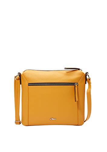 s.Oliver Damen Shoulder Bag mit Außenfach yellow 1