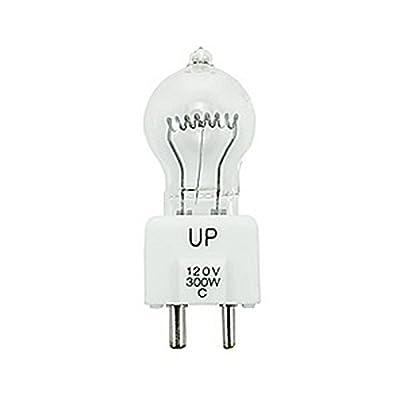 Ushio JCD120V-300WC | 300W 120V 2-Pin Prefocus Base Lightbulb by Ushio