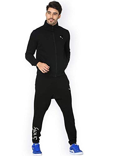 ROYAL SPIN Men's Polyester One 8 Logo Printed Gym Track Suit (Black , XX-Large)