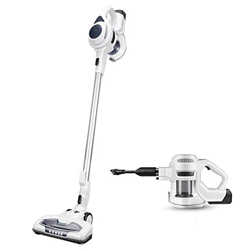 MOOSOO Cordless Vacuum Cleaner Strong 15Kpa 30mins with Advanced Brushless Motor LED 2500mAh 8-Cell Battery 2-in-1 Handheld Stick Vacuum