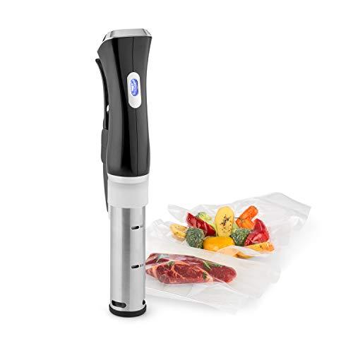 KLARSTEIN Quickstick Sous Vide Cooker 3D - Circolatore ad Immersione, Fornelletto per Cottura Sottovuoto, 1300W, Temperatura 50-95 °C, Circolazione 3D, Display LCD, Nero