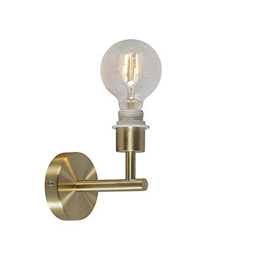 QAZQA Modern Wandlamp Combi 1 goud zonder kap Metaal Overig Geschikt voor LED Max. 1 x 60 Watt